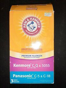 4 Arm & Hammer Vacuum Bags Kenmore C Q 5055 Panasonic C-5 & C-18 Odor Allergen