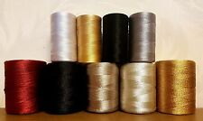 9 Silk Art Rayon Machine Embroidery Thread Spools Various Colors & sizes spools
