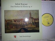 Isfrid Kayser 3 parthien PER PIANOFORTE PIANO op.4 W. Weller RARE private LP MINT