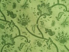 By 1/2 Yard Wilmington Fabric Tis the Season Medium Green Tonal Jacobean Floral