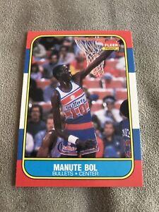 1986-87 FLEER MANUTE BOL ROOKIE #12 MINT!