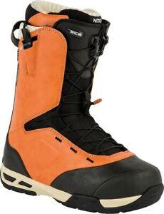 New 2016 Nitro Venture TLS Snowboard Boots Mens 11 Burnt Orange - Black