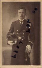 Sub Lieutenant Naval Officer Cocked Hat Full Dress WW1 Medals Sword 1937