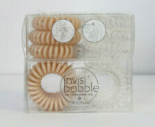 (2 PK) Invisibobble The Traceless Hair Ring Clear & Nude 6 count NEW