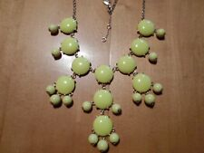 """Yellow Bubble Statement Chandelier Necklace - 22"""" - 25"""" w/extender"""
