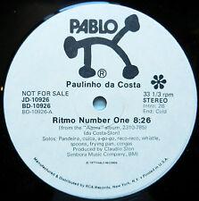 "PAULINHO Da COSTA Ritmo Number One 8:26~Toledo Bagel WHITE LABEL PROMO Pablo 12"""