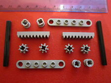 LEGO Technic Worm Screw Steering Rack Plate + Gear Cogs Pins & Axles