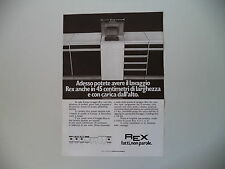 advertising Pubblicità 1977 LAVATRICE REX