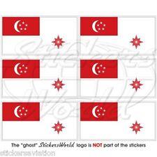 "Singapur marine flagge Kriegsflagge fahne pratique mini-aufkleber 40mm (1.6"") x6"