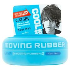 Gatsby Moving Rubber Cool Wet 80g Men Hair Style Grooming Wax UK SELLER