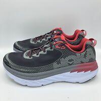 Hoka One One Bondi 5 Black Formula One Red Running Athletic Shoes Mens Size 10