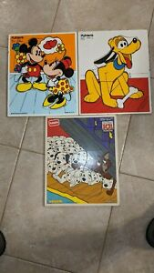 Playskool Set of 3 Disney Wooden puzzles for Toddlers Excellent condition
