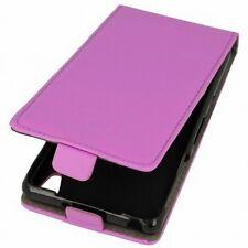 Flip Protection Case LG G4 Stylus Purple Faux Leather Slim Flex Shell Bumper