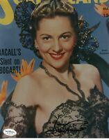 Joan Fontaine Rebecca Suspicion Oscar Winner Signed Autograph Photo JSA