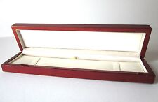 Luxury LONG Wood CHERRY BROWN WATCH/ BRACELET Gift Box-BARGAIN PRICE-C07