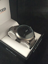 Unlisted Kenneth Cole Men's Analog Black Grey Leather Band Watch UL1265