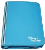 Weight Watchers Points Plus 2012 Blue Stripes Zip Around Planner Binder NO BOOKS