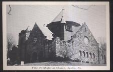 Postcard APOLLO Pennsylvania/PA  1st First Presbyterian Church view 1940's
