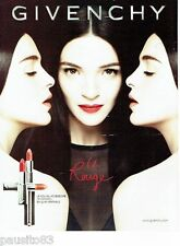 PUBLICITE ADVERTISING 116  2013  Givenchy  maquillage Rouge  à lèvres
