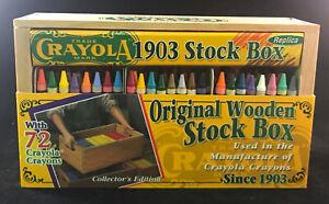 Crayola 1903 Stock Box Replica. Original Wooden Stock Box Collectors Edition New