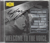 STING etc WELCOME TO THE VOICE signed / autographed 2007 CD album