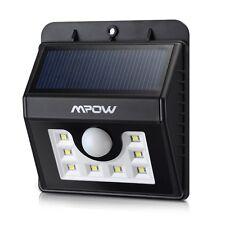 Mpow 8LED Solar Power Wireless Security Motion Sensor Light Outside wall Lamp US