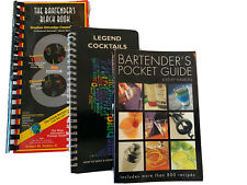 The Bartenders Black Book 10th Edition Bar Pub Cocktail Drink Mixing Recipes Lot