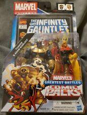 Thanos & Adam Warlock Marvel's Greatest Battles Comic Packs! Infinity War #3 rep