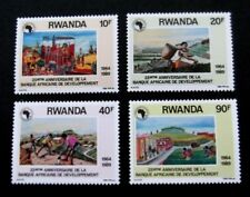 Rwanda-1990-Full set-African Development Bank 25th Anniversary-MNH