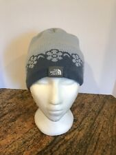 The North Face Girls Knit Beanie Hat Magpie Jewel Blue New With Tags