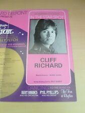 More details for cliff richard  talk of the town london cabaret venue  programme 1970's