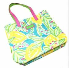 Lilly Pulitzer Estee Lauder Floral Lemon Beach Tote Bag Green Yellow Pink Blue