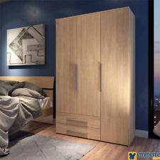 Armadio battente offerta 3 ante+2 cassetti colore legno quercia L122 P53 H174 cm