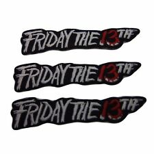 Horror Movie Friday The 13th Series Name Embroidered Patch Set of 3