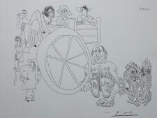 Picasso Pablo: Comedians Street Vendors + Autoportrait - Lithograph Signed