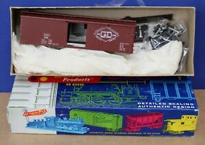 Roundhouse 7752 HO 36' Wood Boxcar Kit John Allen Gorre & Daphetid NIB