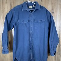 Vintage LL Bean Freeport Maine Long Sleeve Chamois Cloth Shirt Men's Large Tall
