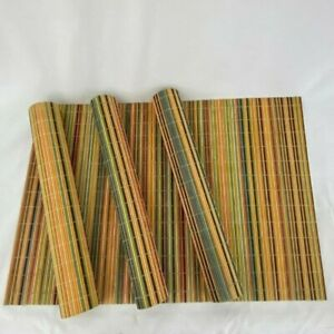 Multi Color Bamboo Placemats Set of 4
