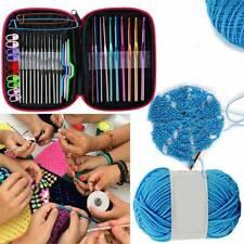 100pcs Aluminium Crochet Hooks Full Set Kit Knitting Tool Accessories with Case