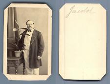 Jacolol homme à identifier Vintage albumen  Carte de Visite, CDV,  Tirage albu