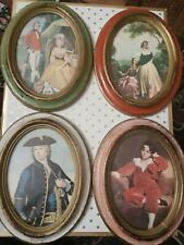 4 Italian Made in Italy Oval Picture Frames Antique Vintage Beautiful Condition