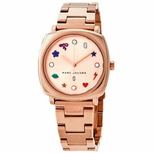 Marc by Marc Jacobs Mandy Crydtal Metal Band Rose Gold Women's Watch MJ3550