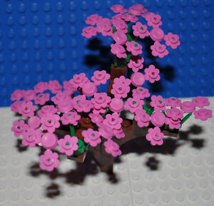 LEGO - TREE WITH PINK FLOWERS/FLOWERING PLANT/GARDEN/PARK/CUSTOM