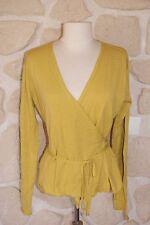 Gilet jaune colza neuf taille XL marque POLES 100% laine étiqueté à 115€
