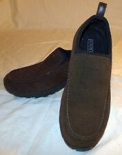 Lands End Brown Suede Slip On Shoes Womens 9 1/2 D 9.5