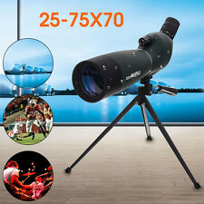 25-75X70 Zoom Telescope Monocular Spotting Scope BAK4 Waterproof With Tripod