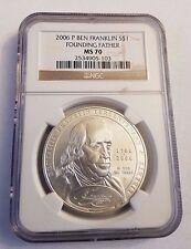 2006-P BEN FRANKLIN NGC MS 70 Silver Dollar Free Shipping!
