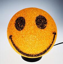 Emoji Happy Smiley Face Lamp Light Nite Lite Desk Table Bedroom Yellow  Round
