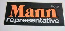 1970's CHARLIE MANN REPRESENTATIVE Number Sticker Unstuck still with backing EX+