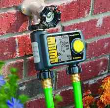 Automatic 2-Outlet Faucet Garden Lawn Drip Hose Sprinkler Timer Watering System